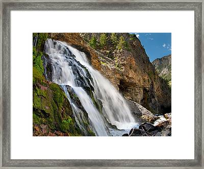 Cedar Creek Falls Framed Print by Leland D Howard