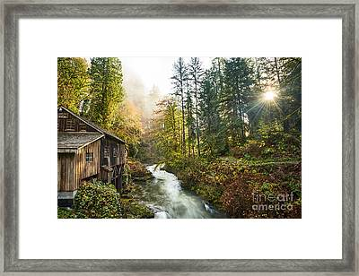 Cedar Creek Mill Light Framed Print by Jamie Pham