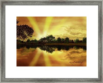Cedar Creek Sunset Framed Print by Kurt Holdorf