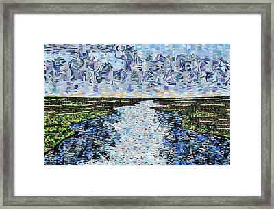 Cedar Island Framed Print by Micah Mullen