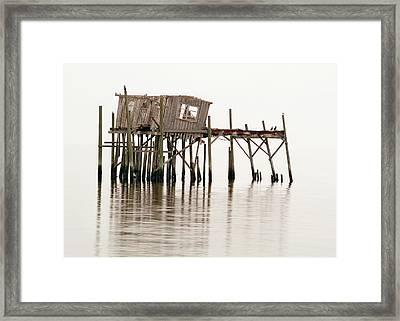 Cedar Key Structure Framed Print by Patrick M Lynch