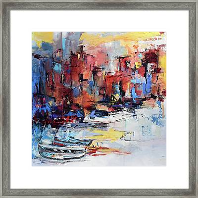 Cefalu Seaside Framed Print by Elise Palmigiani