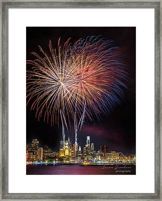 Celebrate Independence With Watermark Framed Print by Jason Gambone