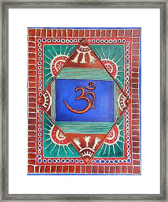 Celebrating Om Framed Print by Sandhya Manne