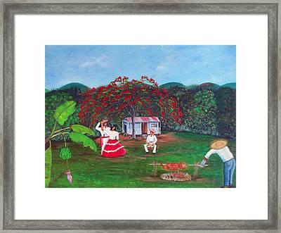 Celebration Framed Print by Gloria E Barreto-Rodriguez
