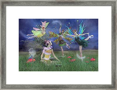 Celebration Of Night Alice And Oz Framed Print by Betsy C Knapp