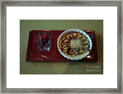 Celebrity Silhouette Creme Brulee Framed Print by Ros Drinkwater