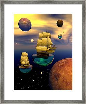 Celestial Armada Framed Print by Claude McCoy