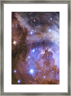 Celestial Fireworks - Hubble 25th Anniversary Image Framed Print by Adam Romanowicz