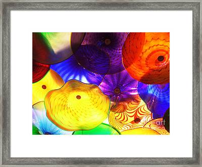 Celestial Glass 3 Framed Print by Xueling Zou