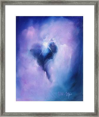 Celestial Heart Framed Print by Sally Seago