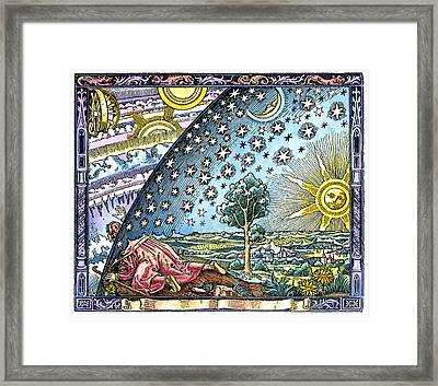 Celestial Mechanics, Medieval Artwork Framed Print by Detlev Van Ravenswaay