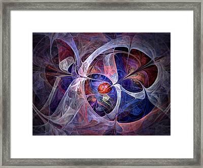 Celestial North - Fractal Art Framed Print by NirvanaBlues