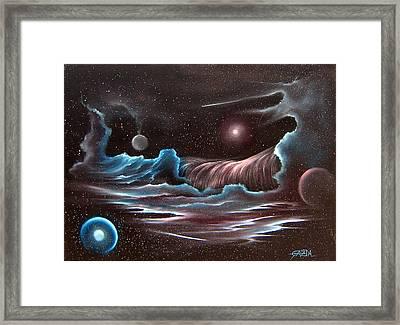 Celestial Wave Framed Print by David Gazda
