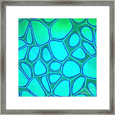 Cell Abstraction Abstract Painting Framed Print by Edward Fielding