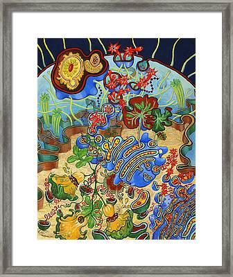 Cell Garden Framed Print by Shoshanah Dubiner