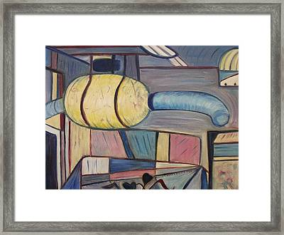 Cellar Ceiling Framed Print by Suzanne  Marie Leclair