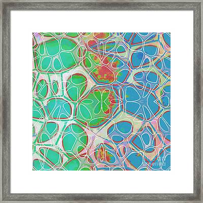 Cells 11 - Abstract Painting  Framed Print by Edward Fielding