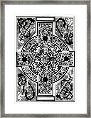 Celtic Cross Tapestry Framed Print by Morgan Fitzsimons