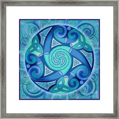 Celtic Planet Framed Print by Kristen Fox
