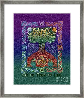 Celtic Tree Of Life Framed Print by Kristen Fox