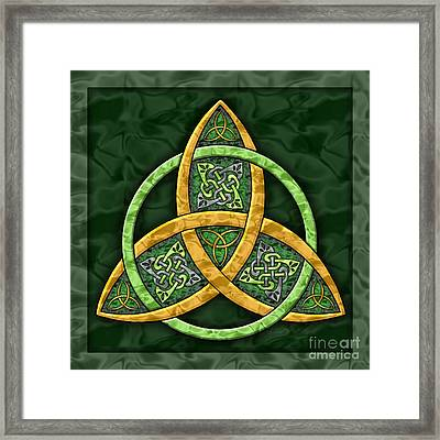 Celtic Trinity Knot Framed Print by Kristen Fox