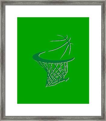 Celtics Basketball Hoop Framed Print by Joe Hamilton