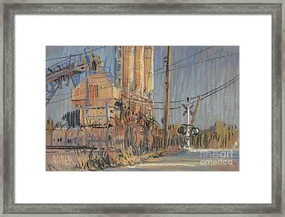 Cement Hopper Framed Print by Donald Maier