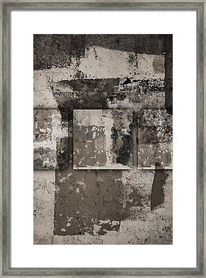 Cement Squares Number Four Framed Print by Carol Leigh