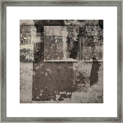 Cement Squares Number One Framed Print by Carol Leigh