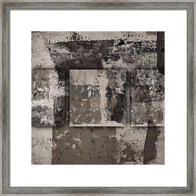 Cement Squares Number Three Framed Print by Carol Leigh
