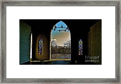 Cemetery Chapel 2 Framed Print by E Robert Dee