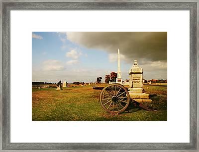 Cemetery Ridge Framed Print by Mick Burkey