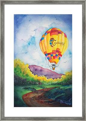 Centennial Balloon Too Framed Print by Michael Bulloch