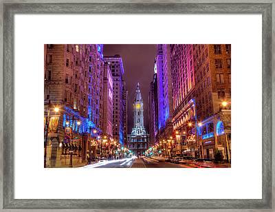 Center City Philadelphia Framed Print by Eric Bowers Photo