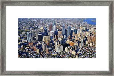 Center City Philadelphia Large Format Framed Print by Duncan Pearson