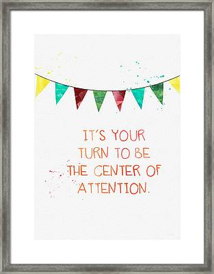 Center Of Attention- Card Framed Print by Linda Woods