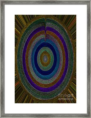 Center Sensation Framed Print by Norma Appleton