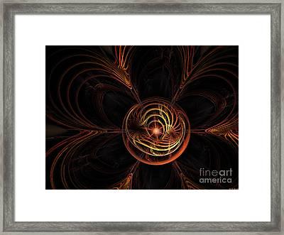 Center Star Framed Print by Deborah Benoit