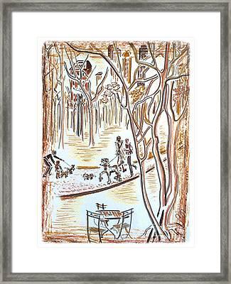 Central Bark Framed Print by Barbara Chase