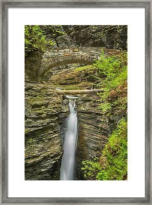 Central Cascade - Watkins Glen Framed Print by Stephen Stookey