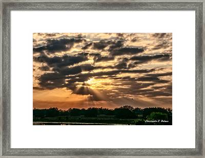 Central Florida Sunrise Framed Print by Christopher Holmes