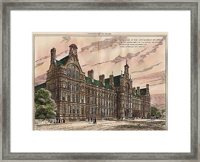 Central Institution Of The Cityy And Guilds Of London And Technical Education. London. 1881 Framed Print by Alfred Waterhouse