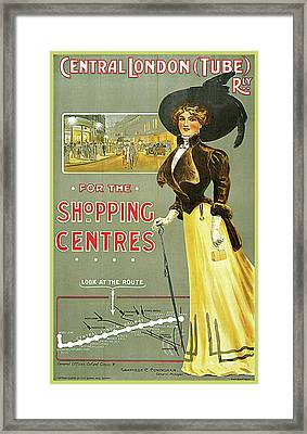 Central London Tube Railway Shopping Centre Framed Print by Edward Sharland