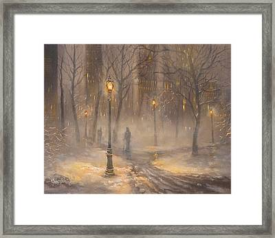 Central Park After Dark Framed Print by Tom Shropshire