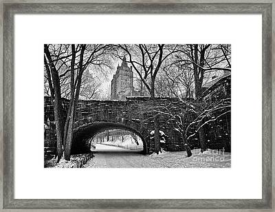 Central Park And The San Remo Building Framed Print by John Farnan