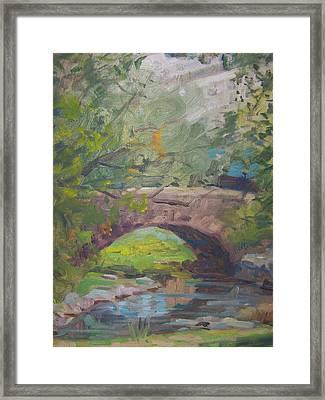 Central Park Bridge Framed Print by Bart DeCeglie