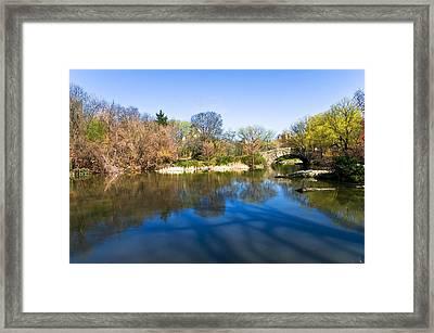 Central Park In New York City Framed Print by Svetlana Sewell