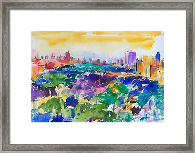 Central Park New York Framed Print by Peter Graham