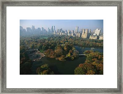 Central Parks Bethesda Fountain Framed Print by Melissa Farlow